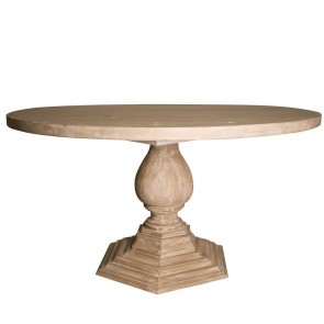 Left Bank Pedestal Dining Table (Custom Built & Finish)