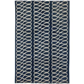 Luxury Collection Hand Knotted Trellis Rug Navy (SALE)
