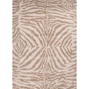 Silver Gray Zebra Raja Plush Wool Rug (Limited Left)