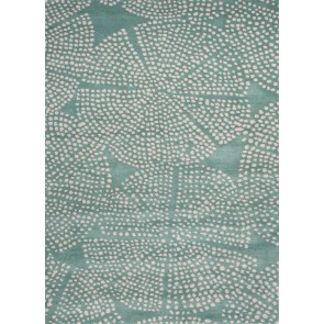 Raja Designer Green Blue Plush Wool Rug