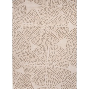 Raja Designer White and Silver Gray Plush Wool Rug