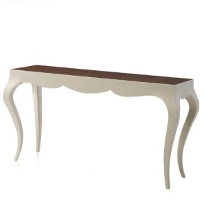 Madeline Lacquered Cream French Console Table NEW!