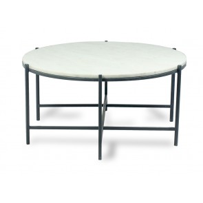 Luxury Black and White Marble Round Coffee Table