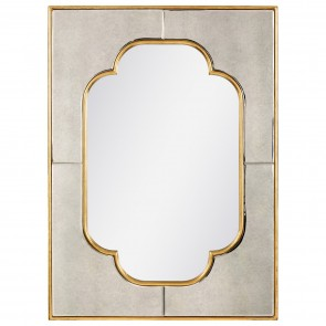 Quatrefoil Gold Accent Mirror Gold