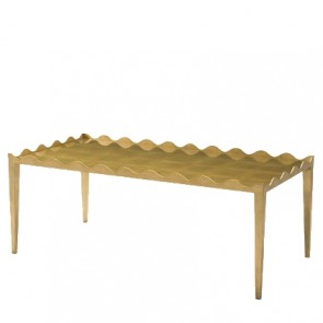 Brooke Wave Modern Gold Cocktail Table NEW!