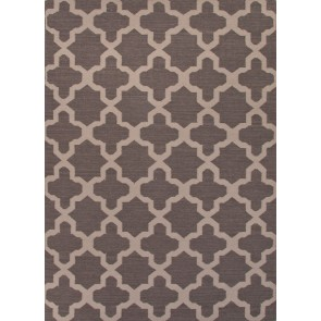 Quatrefoil Maroc Aster Wool Rug Gray Black