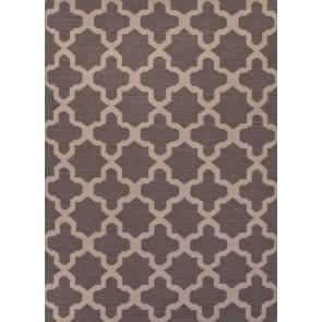 Quatrefoil Maroc Aster Wool Rug Gray Black