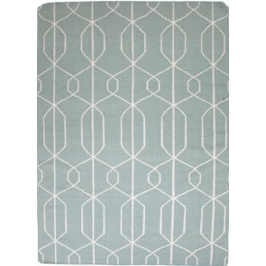 Geo Gale Wool Rug Blue