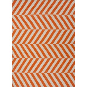 Herringbone Moroccan Salma Wool Rug Orange