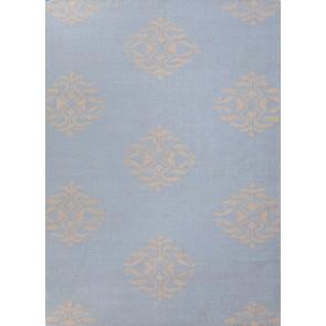 Flat Weave Wool  Rug Powder Blue & Gray