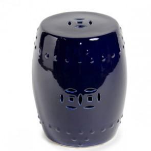 Navy Cobalt Blue Classic Ceramic Garden Stool