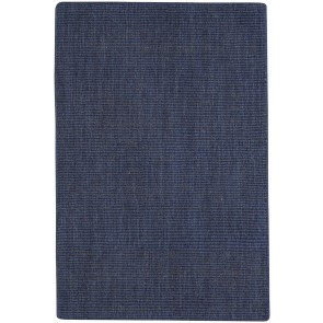 Spa Rug Soft Wool Navy Denim Blue