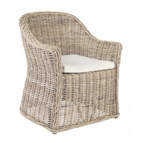 Newbury Natural Gray Woven Kubu Chair (NEW)