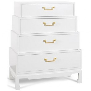 Pagoda 4-Drawer Dresser Tower
