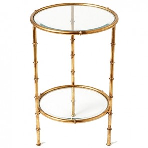 Petite Bamboo Round Side Table