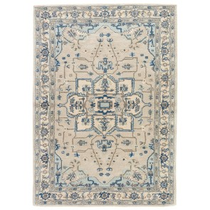 Hand Tufted Poeme Durango Wool Rug Grays and Blues (NEW)