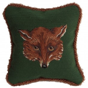 Fox Face Needlepoint Pillow