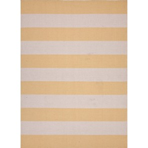 Striped Pura Vida Wool Rug Marigold CLEARANCE