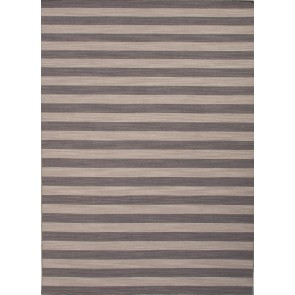 Striped Pura Vida Wool Rug Grays