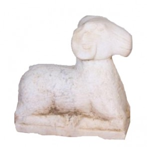 Carved Marble Stone Ram Statue