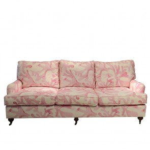 Custom Fabric English Roll Arm Sofa (Custom Luxury)