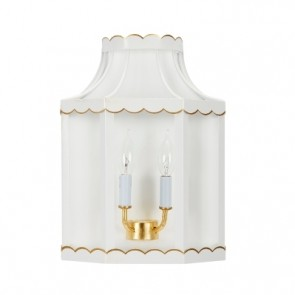 Lilly White Gold Scalloped Sconce (new)