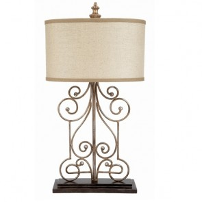 Scrollwork Chester Lamp