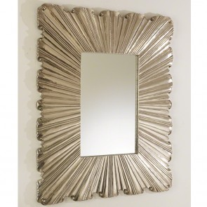 Silver Westport Folded Linen Mirror (New)