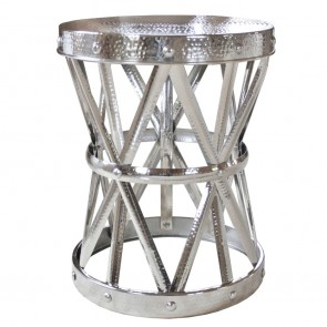 Silver Chinese Garden Stool Table