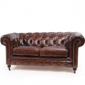 Vintage Leather Chesterfield Sofa (Sizes)