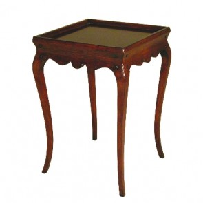 Louis Scalloped Mahogany Side Table