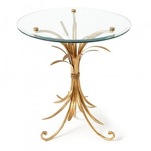 Demeter Gold Wheat Occasional Table
