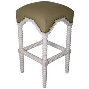 Jenny Lind Spool Bar Stool White Wash
