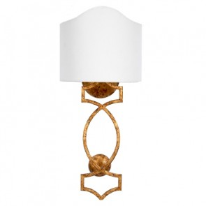 Gold Clara Wall Sconce with Linen Shade