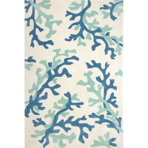 Coral Fixation Fusion Plush Rug Blue