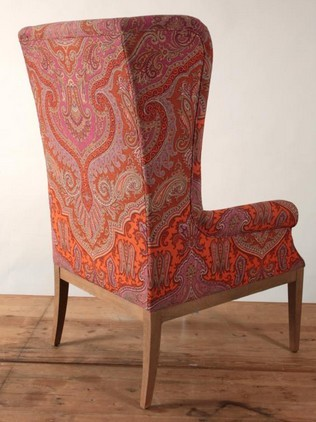 High Back Wing Chair Zoom