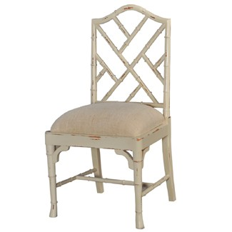 Chinese Chippendale Dining Side Chair Custom Paint Zoom