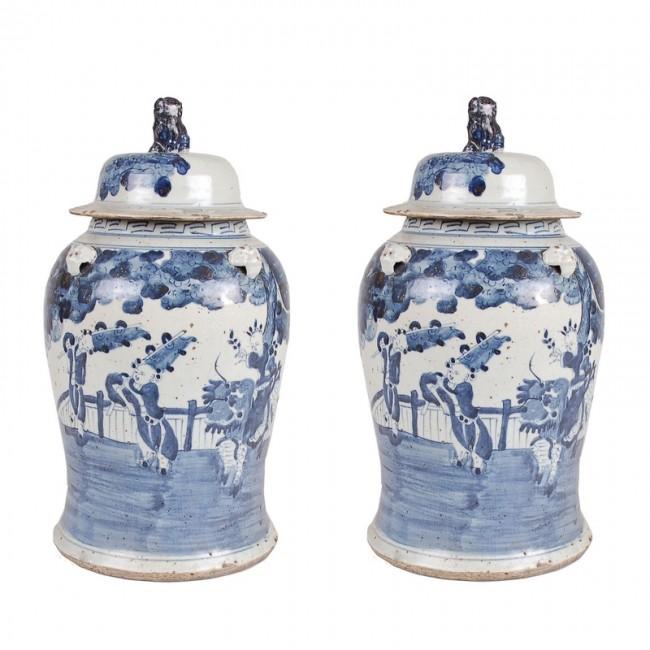 Pair Of Ming Dynasty Baer Jars Vases