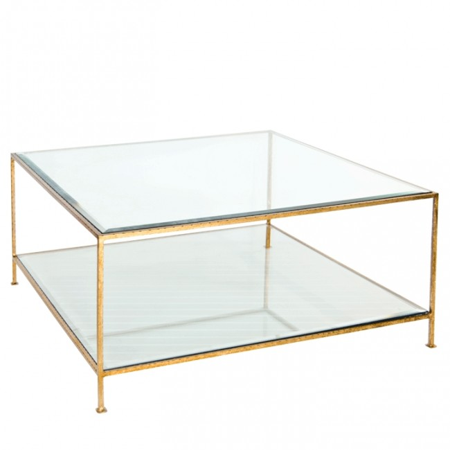 Southbury Gold Leaf Gl Square Coffee Table