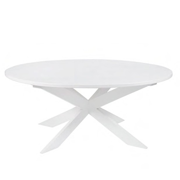 Round Dining Table White Lacquer