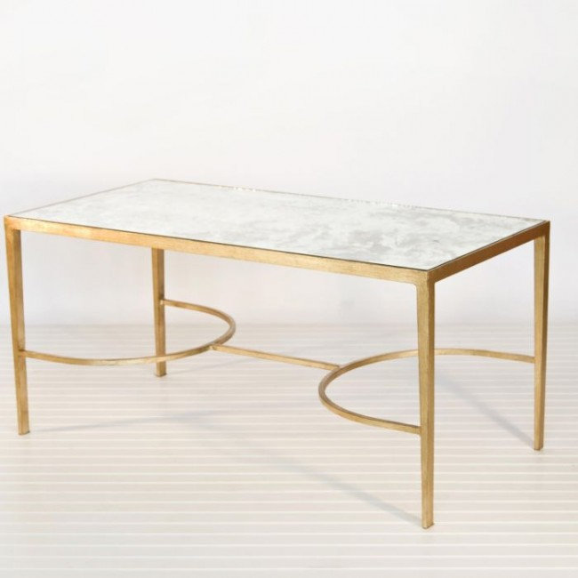 Famous Chase Gold Leaf Mirrored Coffee Table FB41
