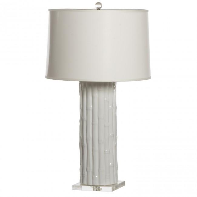 Designer Lamp White Bamboo